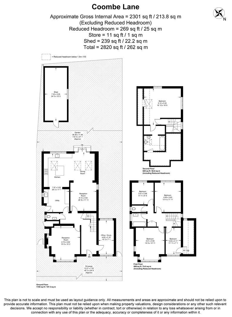Floorplan for Coombe Lane, London